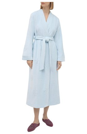 Женский хлопковый халат LOUISFERAUD светло-голубого цвета, арт. 3883176   Фото 2