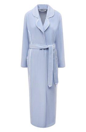 Женский хлопковый халат LOUISFERAUD светло-голубого цвета, арт. 3883035   Фото 1