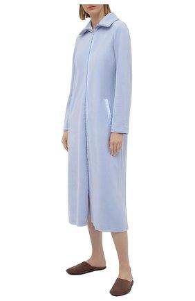 Женский хлопковый халат LOUISFERAUD светло-голубого цвета, арт. 3883036   Фото 2