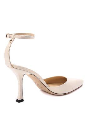 Женские кожаные туфли mair 90 JIMMY CHOO кремвого цвета, арт. MAIR 90/NAP   Фото 4 (Каблук высота: Высокий; Материал внутренний: Натуральная кожа; Каблук тип: Шпилька; Подошва: Плоская)