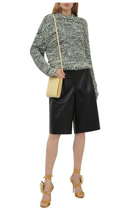 Женские кожаные босоножки keira DOLCE & GABBANA желтого цвета, арт. CR1153/A0649 | Фото 2 (Каблук тип: Шпилька; Материал внутренний: Натуральная кожа; Каблук высота: Высокий; Подошва: Плоская)