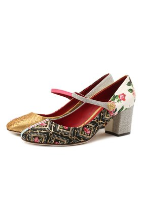 Женские текстильные туфли alexa DOLCE & GABBANA разноцветного цвета, арт. CD1608/A0660   Фото 1