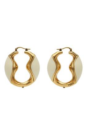 Женские серьги trudie CHLOÉ золотого цвета, арт. CHC21UFE13CBL | Фото 1