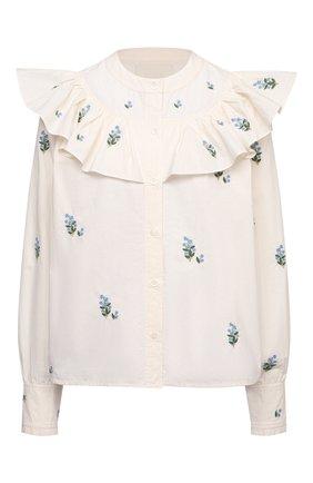 Женская хлопковая блузка CITIZENS OF HUMANITY белого цвета, арт. 9197 | Фото 1
