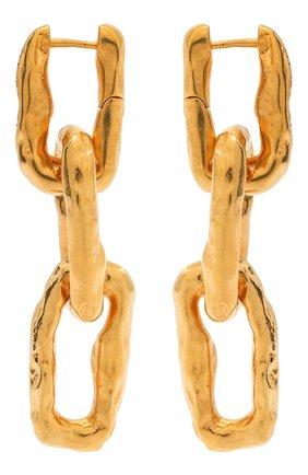 Женские серьги OFF-WHITE золотого цвета, арт. 0W0D089S21MET0017600 | Фото 1