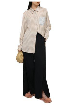 Женская текстильные ботинки tread slick ALEXANDER MCQUEEN светло-розового цвета, арт. 658080/W4Q31 | Фото 2 (Материал внешний: Текстиль; Каблук высота: Низкий; Материал внутренний: Натуральная кожа; Подошва: Платформа)