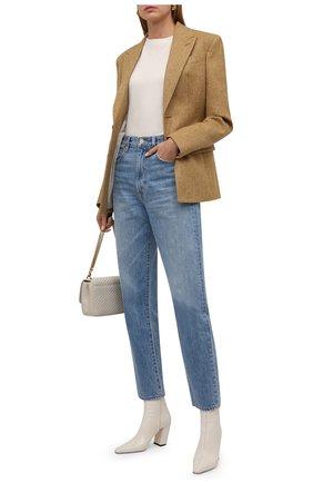Женский кашемировый пуловер BRUNELLO CUCINELLI молочного цвета, арт. M12170400P | Фото 2 (Материал внешний: Шерсть, Кашемир; Длина (для топов): Стандартные; Стили: Кэжуэл; Рукава: Длинные; Женское Кросс-КТ: Пуловер-одежда)
