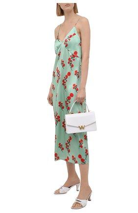 Женское шелковое платье BERNADETTE мятного цвета, арт. SS21-SLDRESS-JEA-SSASTR-4 | Фото 2