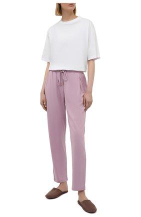 Женские брюки HANRO светло-розового цвета, арт. 077880 | Фото 2
