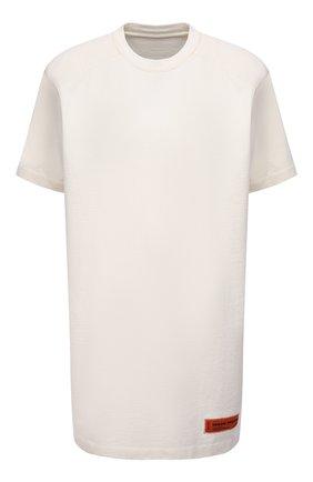 Женское хлопковое платье HERON PRESTON белого цвета, арт. HWDB044R21JER0010410   Фото 1
