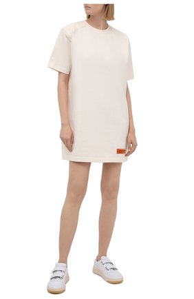 Женское хлопковое платье HERON PRESTON белого цвета, арт. HWDB044R21JER0010410   Фото 2