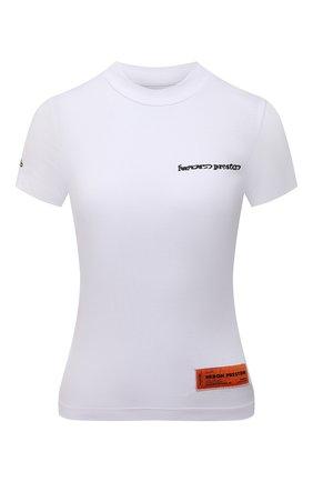 Женская футболка из вискозы HERON PRESTON белого цвета, арт. HWAA022R21JER0010110   Фото 1