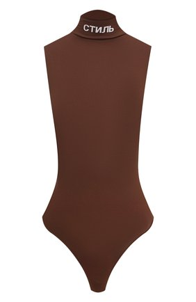 Женское боди HERON PRESTON коричневого цвета, арт. HWDD011R21KNI0016001   Фото 1