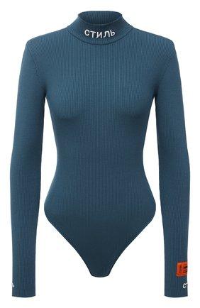 Женское боди из вискозы HERON PRESTON синего цвета, арт. HWHA004R21KNI0015700 | Фото 1