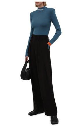 Женское боди из вискозы HERON PRESTON синего цвета, арт. HWHA004R21KNI0015700 | Фото 2