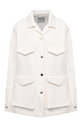 Женская джинсовая куртка TOTÊME белого цвета, арт. 212-108-748 | Фото 1