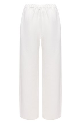 Женские льняные брюки TOTÊME белого цвета, арт. 212-254-723 | Фото 1