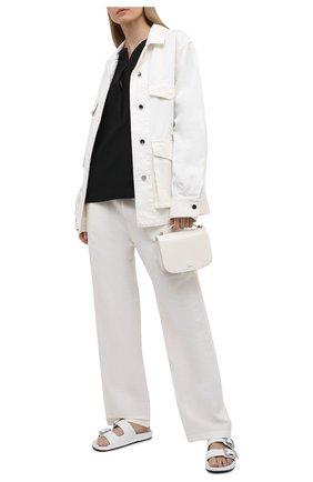 Женские льняные брюки TOTÊME белого цвета, арт. 212-254-723 | Фото 2