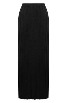 Женская плиссированная юбка TOTÊME черного цвета, арт. 212-322-760 | Фото 1