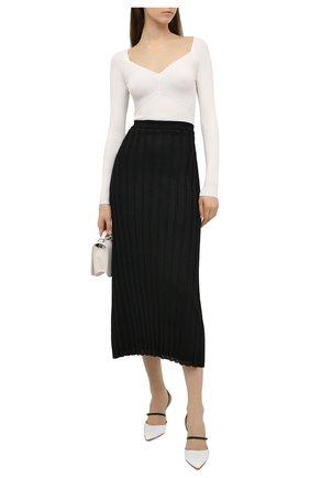 Женская плиссированная юбка TOTÊME черного цвета, арт. 212-322-760 | Фото 2