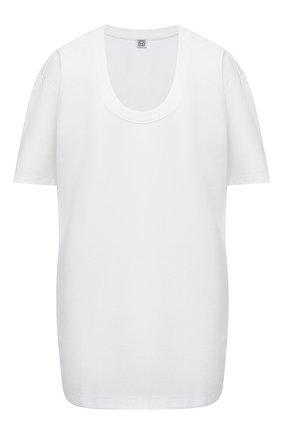 Женская футболка из вискозы TOTÊME белого цвета, арт. 212-442-774 | Фото 1