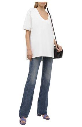 Женская футболка из вискозы TOTÊME белого цвета, арт. 212-442-774 | Фото 2