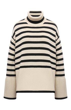 Женский свитер из шерсти и хлопка TOTÊME кремвого цвета, арт. 212-562-758 | Фото 1