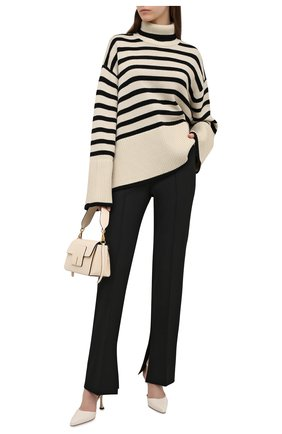 Женский свитер из шерсти и хлопка TOTÊME кремвого цвета, арт. 212-562-758 | Фото 2