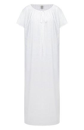 Женское хлопковое платье TOTÊME белого цвета, арт. 212-611-720   Фото 1