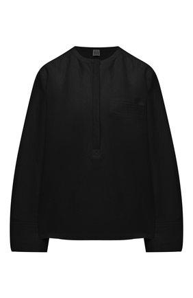 Женская льняная блузка TOTÊME черного цвета, арт. 212-748-723 | Фото 1