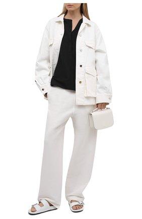 Женская льняная блузка TOTÊME черного цвета, арт. 212-748-723 | Фото 2