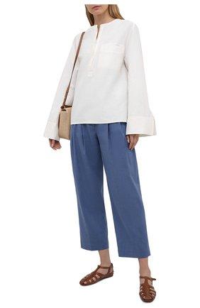 Женская льняная блузка TOTÊME белого цвета, арт. 212-748-723 | Фото 2