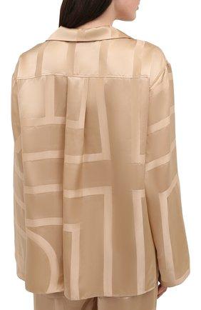 Женская шелковая рубашка TOTÊME светло-коричневого цвета, арт. 212-755-724 | Фото 4