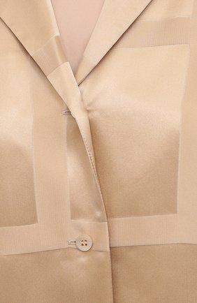 Женская шелковая рубашка TOTÊME светло-коричневого цвета, арт. 212-755-724 | Фото 5