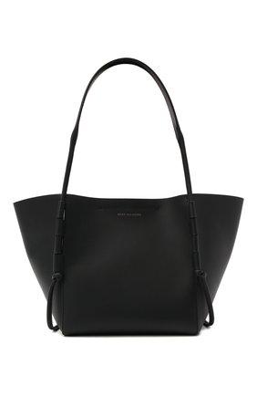 Женский сумка-шопер DRIES VAN NOTEN черного цвета, арт. 211-11507-149 | Фото 1 (Материал: Натуральная кожа; Сумки-технические: Сумки-шопперы; Размер: mini)