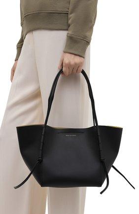 Женский сумка-шопер DRIES VAN NOTEN черного цвета, арт. 211-11507-149   Фото 2