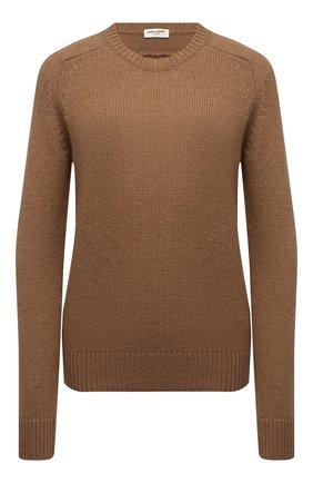 Женский шерстяной свитер SAINT LAURENT светло-коричневого цвета, арт. 603084/YALK2   Фото 1