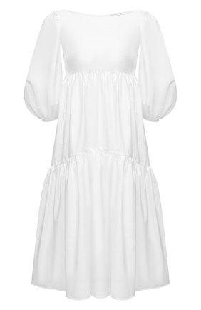 Женское хлопковое платье CECILIE BAHNSEN белого цвета, арт. SS21.02-0012   Фото 1