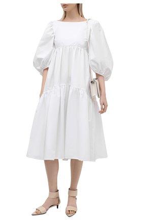 Женское хлопковое платье CECILIE BAHNSEN белого цвета, арт. SS21.02-0012   Фото 2