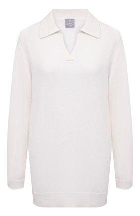 Женский кашемировый пуловер FTC белого цвета, арт. 820-0470   Фото 1