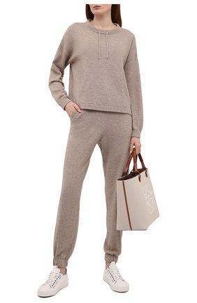 Женский кашемировый пуловер FTC коричневого цвета, арт. 830-0570   Фото 2