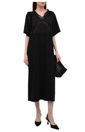 Женское хлопковое платье MM6 черного цвета, арт. S62CT0128/S23588 | Фото 2