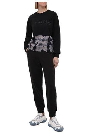 Женский хлопковый свитшот 5PREVIEW черного цвета, арт. 5PW21014 | Фото 2