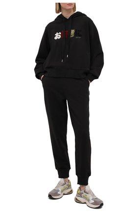 Женские хлопковые джоггеры 5PREVIEW черного цвета, арт. 5PW21016 | Фото 2