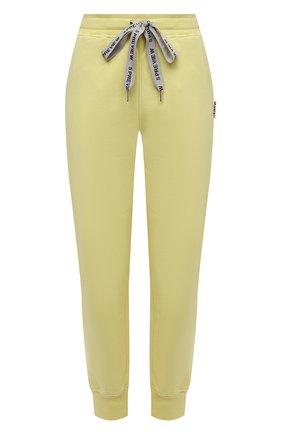 Женские хлопковые джоггеры 5PREVIEW желтого цвета, арт. 5PW21016 | Фото 1
