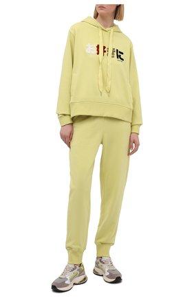 Женские хлопковые джоггеры 5PREVIEW желтого цвета, арт. 5PW21016 | Фото 2