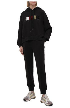 Женский хлопковое худи 5PREVIEW черного цвета, арт. 5PW21017 | Фото 2