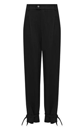 Женские брюки из вискозы 5PREVIEW черного цвета, арт. 5PW21034 | Фото 1 (Материал внешний: Вискоза, Синтетический материал; Женское Кросс-КТ: Брюки-одежда; Длина (брюки, джинсы): Стандартные; Стили: Спорт-шик; Силуэт Ж (брюки и джинсы): Прямые)