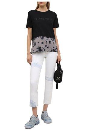 Женская хлопковая футболка 5PREVIEW черного цвета, арт. 5PW21044 | Фото 2