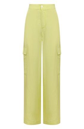 Женские брюки из вискозы 5PREVIEW светло-зеленого цвета, арт. 5PW21103 | Фото 1